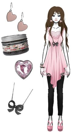 Time for fashion 5 by FallenChibi on DeviantArt Manga Clothes, Drawing Clothes, Twilight Outfits, Anime Outfits, Tik Tok, Pink Dress, Me Too Shoes, Jewerly, Photos