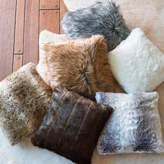 Our Faux Fur Pillow allows you to savor the decadence and style of fur, while embracing modern thinking on the fur trade. It's plush, exquisitely soft, and realistically colored  truly the best of the improvements that have come to simulated fur. Place it on your sofa for a constant decorating statement, or keep it on your bed, where you can cuddle up to its soft charms all night long.                    Lush and luxurious throw pillow made of top-quality faux fur                    ...