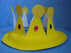 Paper Plate Crown, great activity for the letter Q for queen or K for king