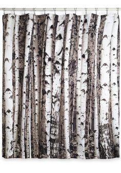 Beyond the Grove Shower Curtain by Kikkerland - Multi, Rustic, Good, Novelty Print $19.99 #modcloth (Closet door?)