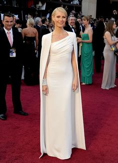 Tom Ford dress - my favorite from the '12 Oscars. Cape is elegant and sexy.