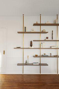 Unique Shelves, Wood Shelves, Shelving Design, Shop Shelving, Office Shelving, Muebles Living, Wood Tile Floors, Interior Decorating, Interior Design