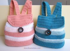 You have to see Toddler Backpack - Colly & Polly on Craftsy! - Looking for crocheting project inspiration? Check out Toddler Backpack - Colly & Polly by member theavacloset. Crochet Toddler, Cute Crochet, Crochet For Kids, Crochet Baby, Knit Crochet, Crochet Tote, Crochet Handbags, Crochet Purses, Purse Patterns