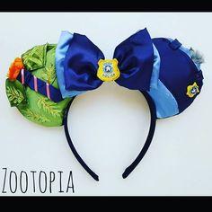 """""""Zootopia"""" Minnie Mouse Disney Ears #Disney #Disneyland #DisneyWorld #Zootopia…"""