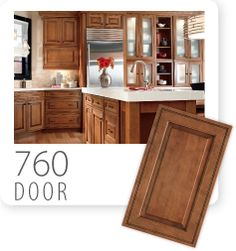 This new 760F door style has the detail of an inset door and a raised inset panel for a desirable look.