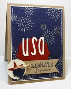Celebrate USA Card by Jodi Collins #Patriotic, #4thofJuly, #Cardmaking