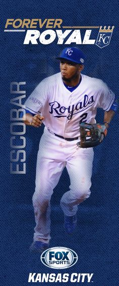 2015 'Forever Royal' pole banners | FOX Sports - Alcides Escobar