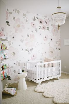 We'll never stop swooning over this gorgeous pre-pasted wallpaper. See it featured in the nursery of Project Nursery's Social Media Manager, Lauren. Dimensions & Details: - Designed by Monika Hibbs -
