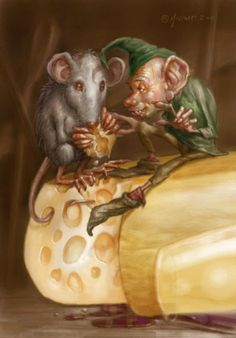 The goblin, the mouse and cheese by Fernando Molinari