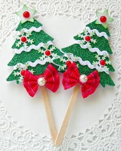 Christmas Tree Lollipops by sarasscrappin on Etsy, $3.49