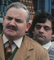 Open All Hours. Image shows from L to R: Albert Arkwright (Ronnie Barker), Granville (David Jason). Classic Tv, Classic Films, Ronnie Barker, Open All Hours, David Jason, British Broadcasting Corporation, Classic Comedies, Vintage Television, Anthology Series