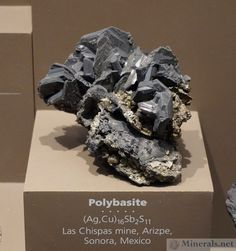 Polybasite from the Las Chispas Mine, Arizpe, Sonoroa, Mexico