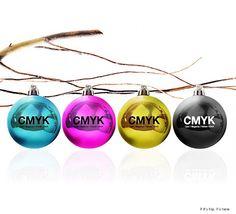 The Designer's Balls. CMYK Christmas Ornaments From Veinticuatrodientes. | http://www.ifitshipitshere.com/the-designers-balls/