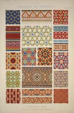 Persian Ornament no. 2: Ornaments from Persian manuscript in the British Museum.