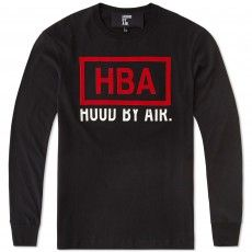 Hood By Air Long Sleeve Rage Box Logo Tee (Black & Red)