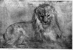 Albrecht Dürer: Liegender Löwe, 1521     Kupferstichkabinett Berlin