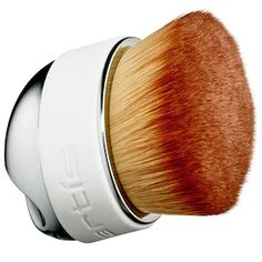 Elite Mirror Palm Brush Mini - Artis | Sephora Contour Brush, Contour Makeup, Contouring, Artis Brushes, Makeup Brushes, Bronzer, Concealer, Cheekbones Makeup, Mini Makeup