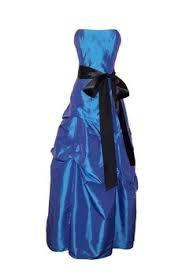Blue layered w/ black ribbon