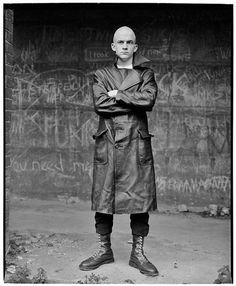 #Bald #Black #Leather #Coat #Boots #Men's #Man #Look #Style #Fashion