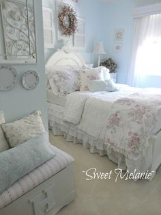 Home Decoration Ideas Ganpati most Online Home Decor Websites India within Shabby Chic Bedroom Decorating Ideas And Pictures the Shabby Chic Cottage Bedroom Ideas out Shabby Chic Bedroom Decorating Ideas On A Budget Shabby Chic Mode, Shabby Chic Bedrooms, Bedroom Vintage, Shabby Vintage, Shabby Chic Style, Shabby Chic Furniture, Shabby Chic Decor, Romantic Bedrooms, White Bedrooms