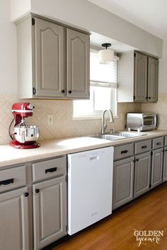Kitchen Remodel With White Appliances traditional white kitchen cabinets with white appliances Diy White Kitchen Remodel On A Budget Kitchen Update On A Budget From The Golden