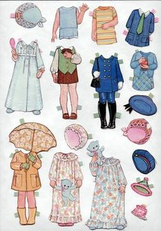 tina and trudy paper dolls - Google Search