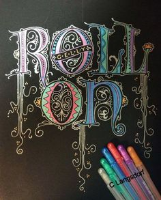 Alphabee Tangles. #gellyroll30 illuminated letters. Who says you need fancy tools to make calligraphy? Fabulous!