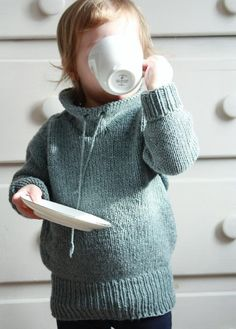 A sweater for your kids to live in: the roomy fit is perfect for lazy days around the house or keeping warm outside. The positive ease and extra length at body and arms also ensure it will fit for more than a year!Abate is worked from the top down and is designed to be worn with 3 inches of positive ease.The sample was worked in Quince & Co. Lark. A substitute yarn is shown below.