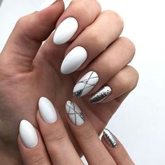 25 Beautiful nail art designs, With an attractive nail art style, you'll be able to build your nails look very howling and crowd Elegant Nail Designs, Simple Nail Art Designs, Elegant Nails, Cute Acrylic Nails, Cute Nails, Nail Manicure, Nail Polish, Gelish Nails, Hair And Nails