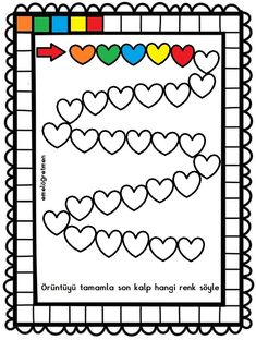 Creative Activities, Therapy Activities, English Worksheets For Kids, Valentine Day Special, Diy Crafts For Gifts, Exercise For Kids, Working With Children, Repeating Patterns, Teaching Tools