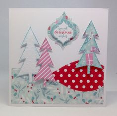 Card created using Julie Loves...All Wrapped Up collection with Christmas Whites Embossed collection, made by Julie Hickey www.craftworkcards.com