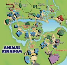 Map of Animal Kingdom Disney World Honeymoon, Disneyland Vacation, Disney Vacations, Disney Trips, Disney Map, Disney World Map, Disney Travel, Disney Planning, Trip Planning