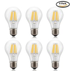 Voness A19 6w LED Filament Light Bulb LED Classic Edison Bulb 60w Incandescent Replacement,120vac,e26 Medium Base, Non-dimmable,clear Soft White 2700k-6pack VONESS http://www.amazon.com/dp/B017Q5E6L0/ref=cm_sw_r_pi_dp_F.0Gwb1YTDRPG
