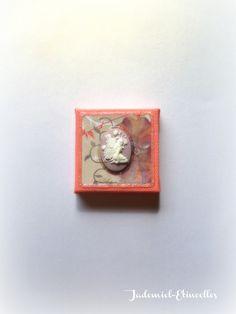 """Mini toile décorative série """" Songes de fleurs """" n°71 : Accessoires de maison par jademiel-etincelles"""