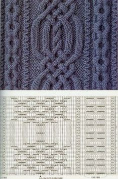 : Knitting stitches Tutorial for Crochet, Knitting, Crafts. Cable Knitting Patterns, Knitting Stiches, Knitting Charts, Lace Knitting, Knitting Designs, Knit Patterns, Crochet Stitches, Stitch Patterns, Knitting Machine