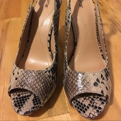 """Faux snakeskin, never worn but no box 8.5, Apt. 9, faux snakeskin, never worn but no box. Approx 4"""" heel- final mark down.  Apt. 9 Shoes Heels"""