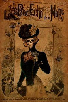 Le Petit Echo de la Mort, 1880 (macabre parody on Le Petit Echo de la Mode, a fashion magazine for women)