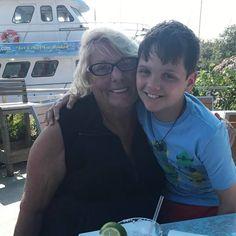 Nanna and Dayton. #autismawarenessmonth #floridalife #lightitupblue #annamariaisland