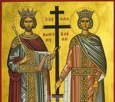 Κωνσταντίνου και Ελένης: Μεγάλη γιορτή της Ορθοδοξίας σήμερα 21 Μαΐου Byzantine Art, Statue, Saints, Christianity, Sculptures, Sculpture