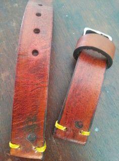 Strap 20mm leather vintage