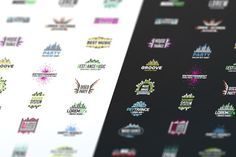 Music Equalizer Logo Template Set by The Big Lake on @creativemarket