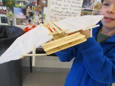 The Great Artdoors: 4th Grade DaVinci Flying Machines