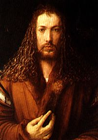 Self-Portrait (or Self-Portrait at Twenty-Eight Years Old Wearing a Coat with Fur Collar) is a painting on wood panel by the German Renaissance artist Albrecht Dürer. Painted early in Renaissance Kunst, Renaissance Artists, High Renaissance, Renaissance Paintings, Famous Artists, Great Artists, Classic Paintings, Beautiful Paintings, Art Paintings