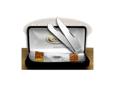 CASE XX Sun Dance and White Pearl Trapper Pocket Knife - CA6073-1-SD&WP | 6073-1-SD&WP