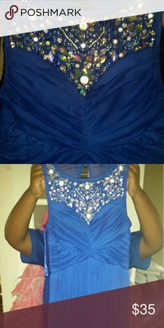 Formal Dress Navy, floor length gown. Worn once. Trixxi Dresses Prom