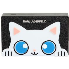 Karl Lagerfeld Women Small Choupette Shiny Box Clutch (€185) ❤ liked on Polyvore featuring bags, handbags, clutches, black, karl lagerfeld, chain strap purse, hard clutch, chain strap handbag and metal purse