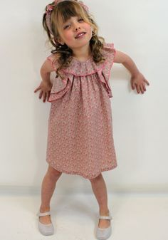 Aoife in Chloe Liberty print dress from  Designerchildrens... #chloe #designerkids #designerclothes #luxurykids #kidsclothes #girlsclothes #modelkids #fun #summer #dress #chic #style #kidsblog #liberty #chloekids #harperbeckham
