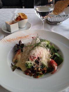 Restaurang Sjömagasinet |  Michelin-starred restaurant with flair for seafood. Seafood, Restaurant, Chicken, Meat, Beef, Sea Food, Diner Restaurant, Restaurants, Dining