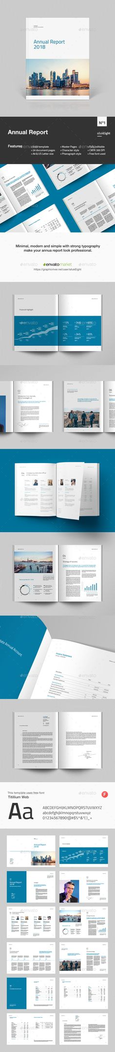 Annual Report Template Bundle  Annual Reports Adobe Indesign And