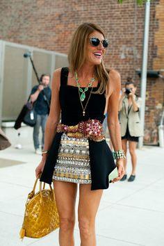 Anna Dello Russo. Love the LV bag. Obviously she is fabulous